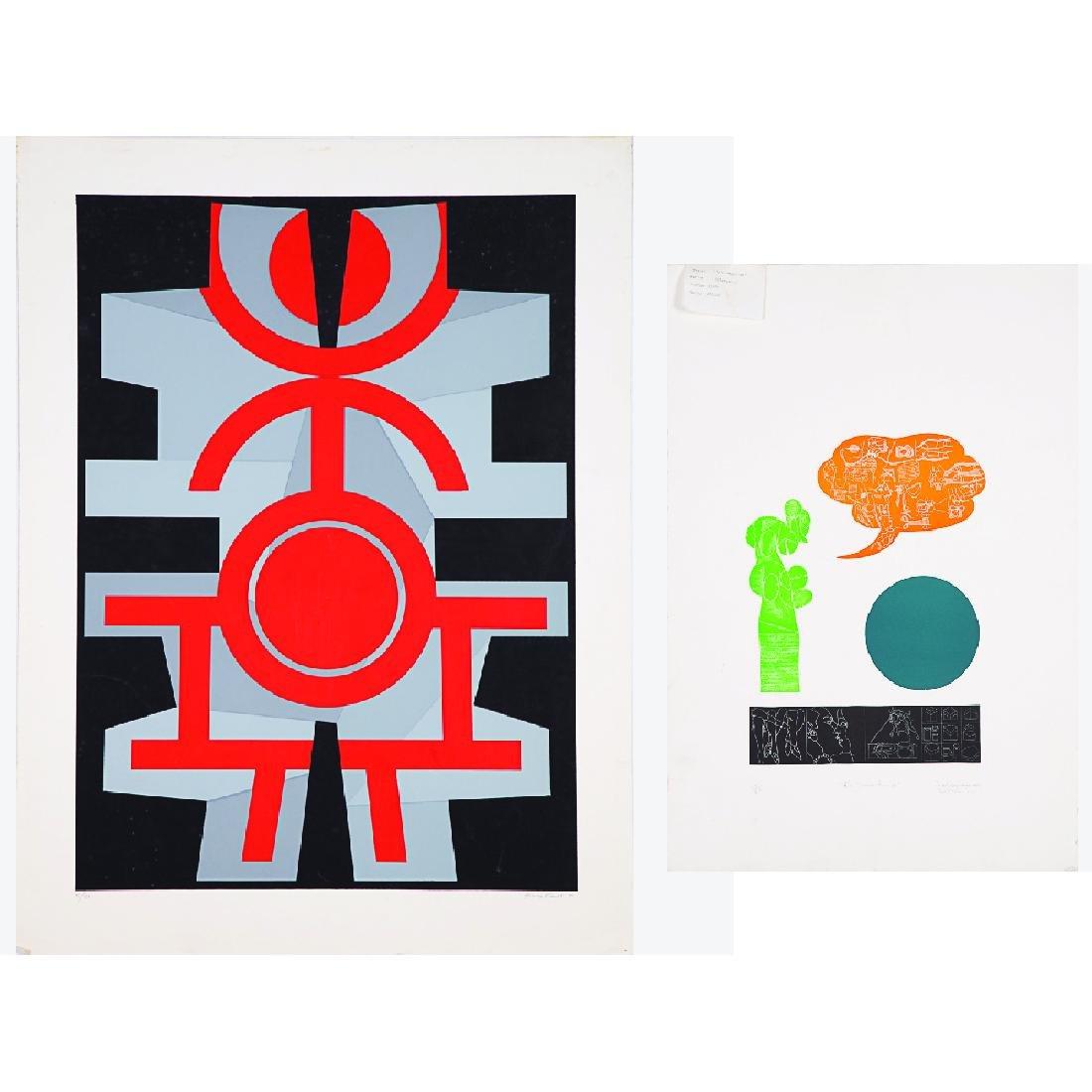 Jimmy Ernst (1920-1984) Untitled, Silkscreen,