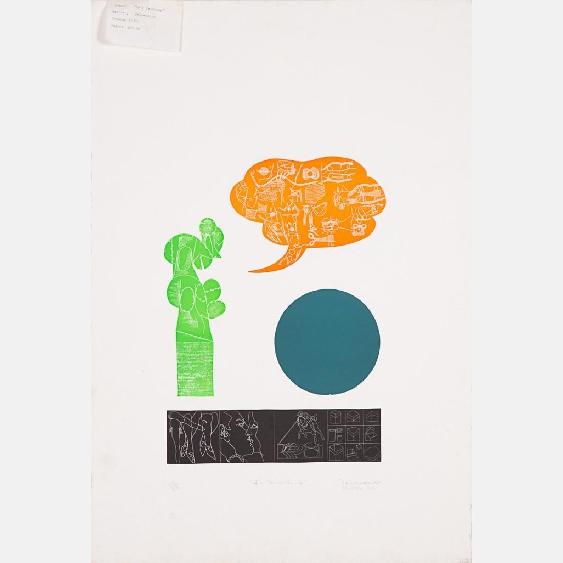 Jimmy Ernst (1920-1984) Untitled, Silkscreen, - 3