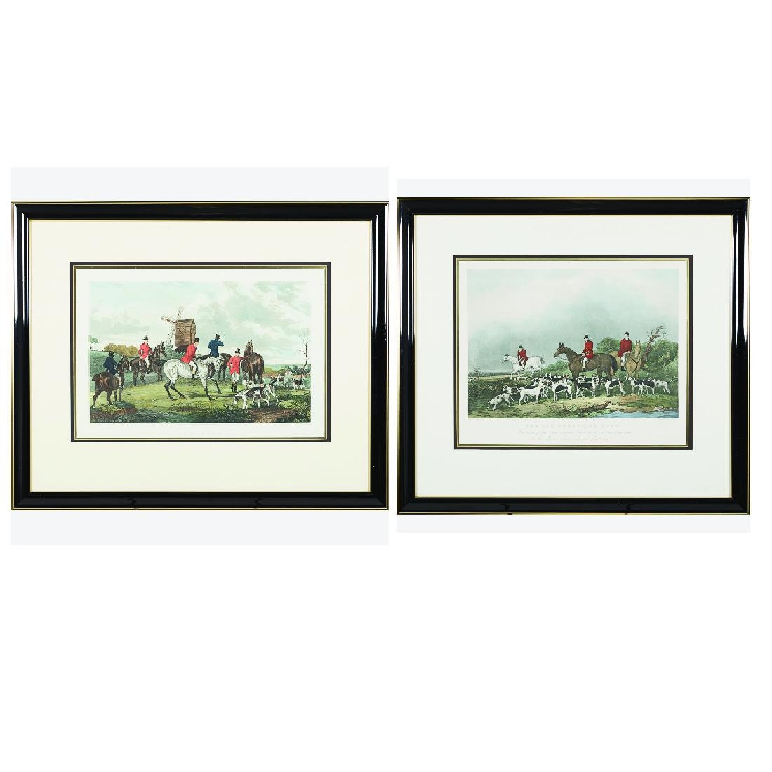 Two Hand Colored Engravings Depicting Hunting Scenes,