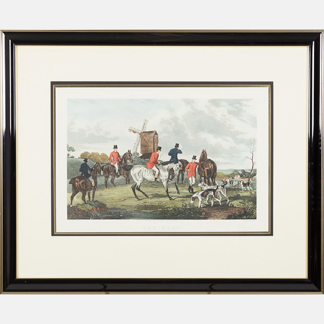 Two Hand Colored Engravings Depicting Hunting Scenes, - 2