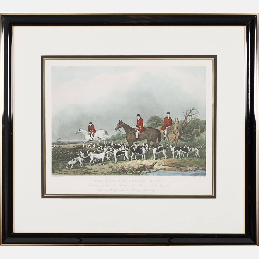 Two Hand Colored Engravings Depicting Hunting Scenes, - 3