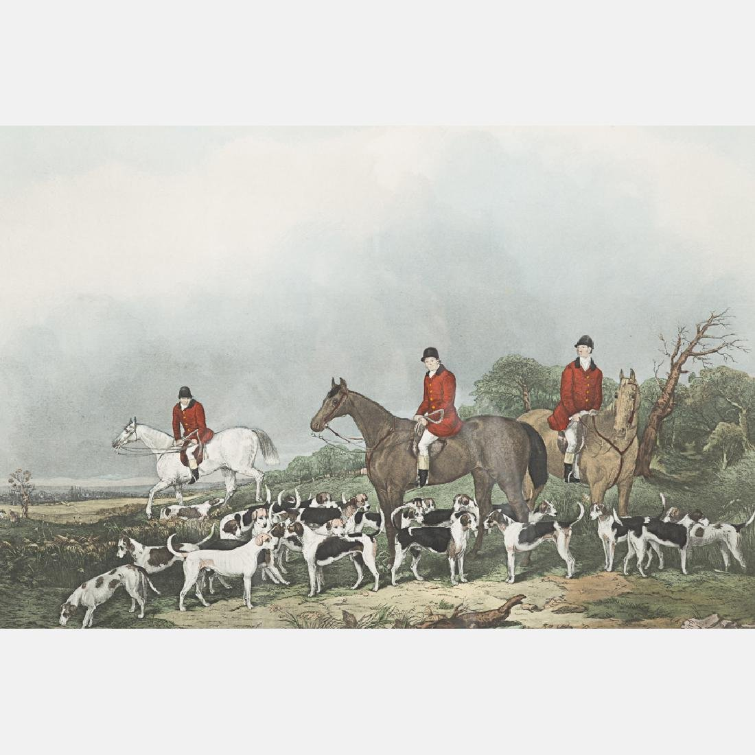 Two Hand Colored Engravings Depicting Hunting Scenes, - 6