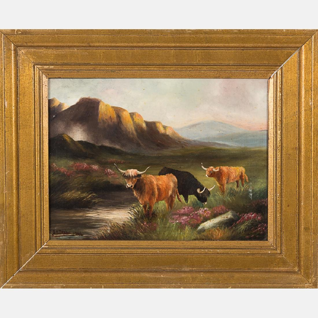 Two Oil on Canvas Decorative Paintings by Various - 3