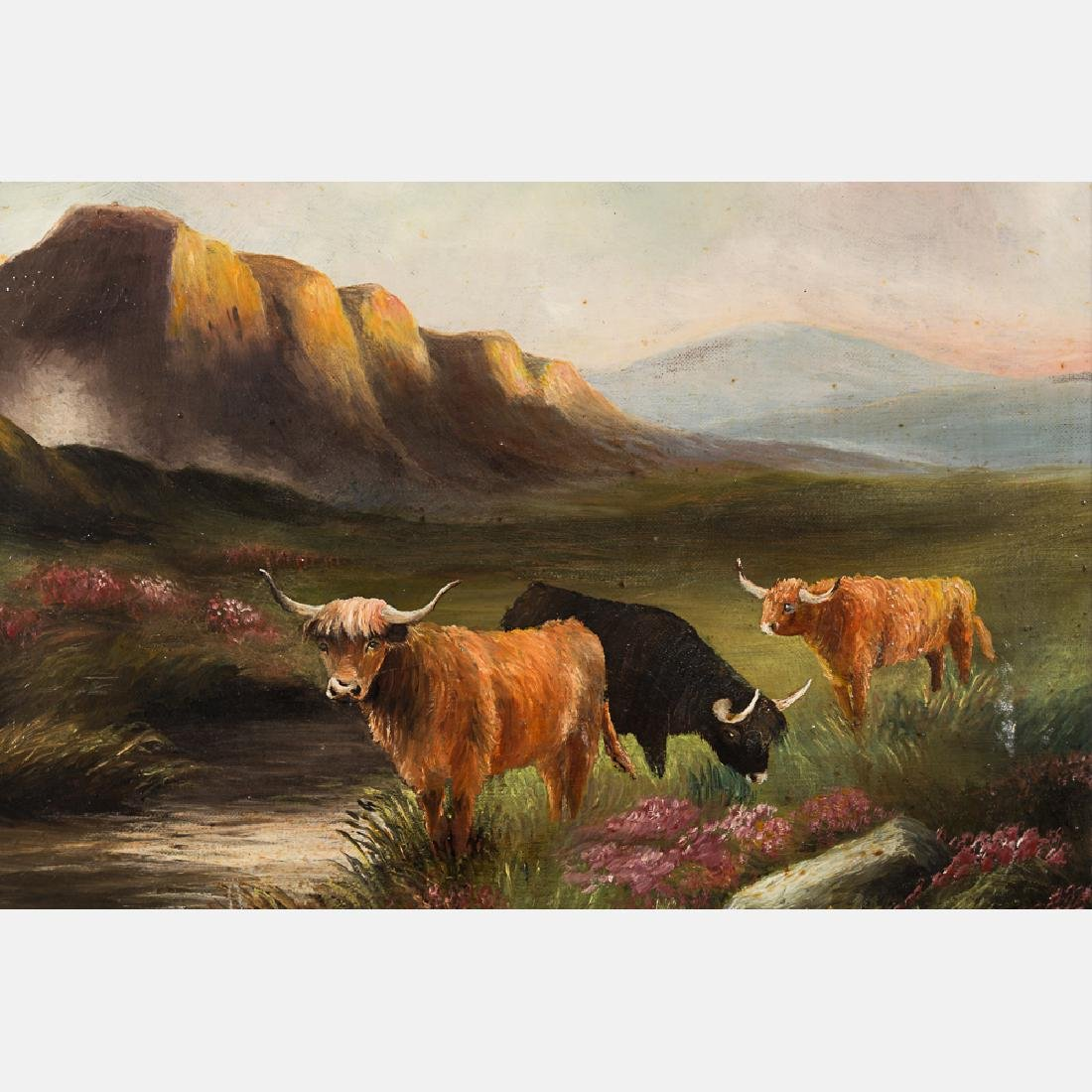 Two Oil on Canvas Decorative Paintings by Various - 6