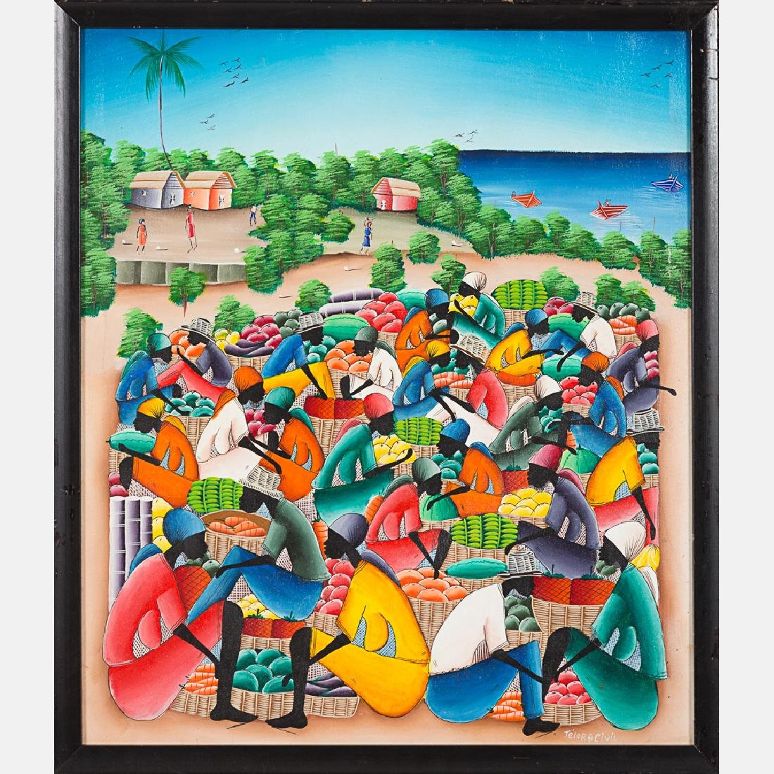 Two Haitian Paintings by Various Artists, 20th Century, - 2
