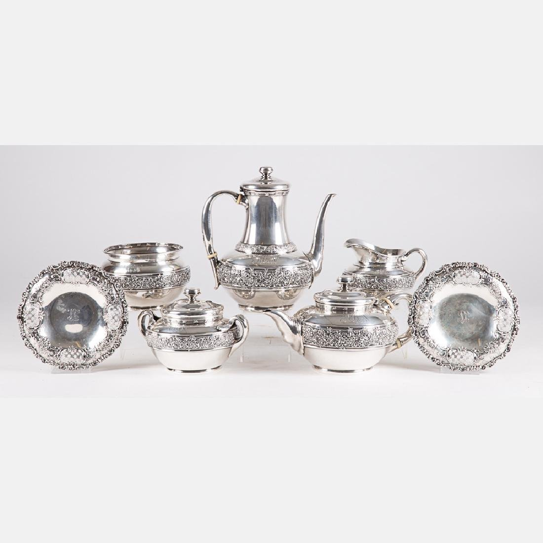 A Tiffany & Company Sterling Silver Seven Piece Coffee