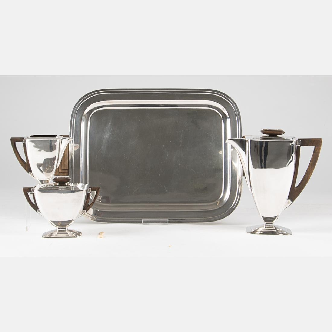 An International Silver Plated French Deco Style Coffee