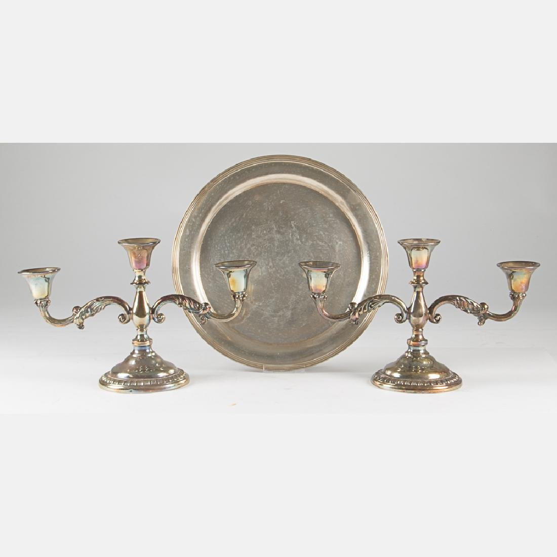 An R. Wallace & Sons Circular Sterling Silver Tray,