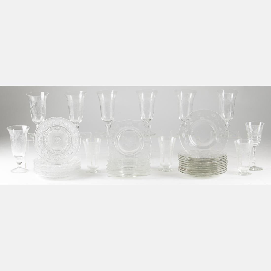 A Miscellaneous Collection of Etched and Pressed Glass
