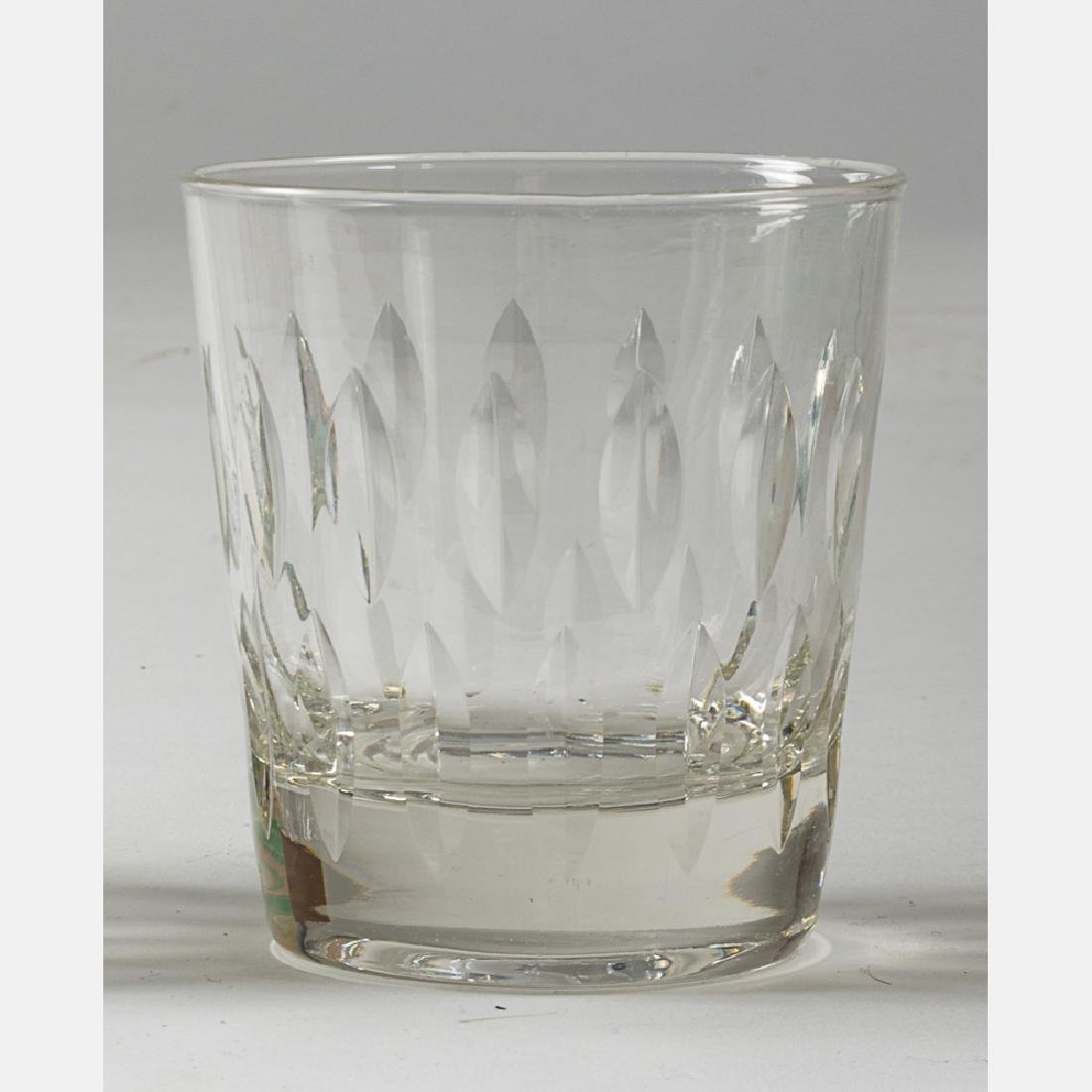 A Collection of Etched Crystal Stemware, 20th Century, - 2
