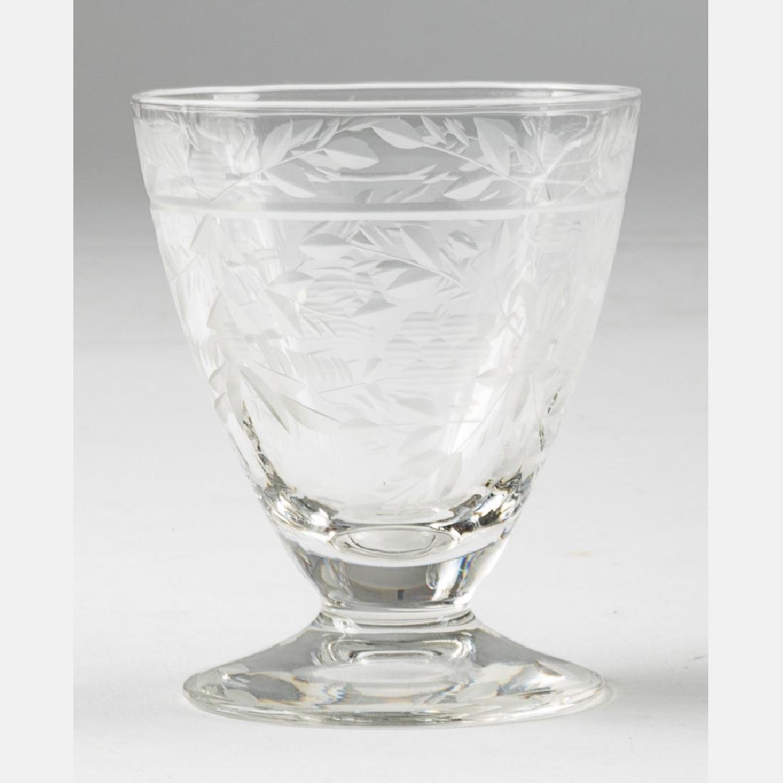 A Collection of Etched Crystal Stemware, 20th Century, - 5