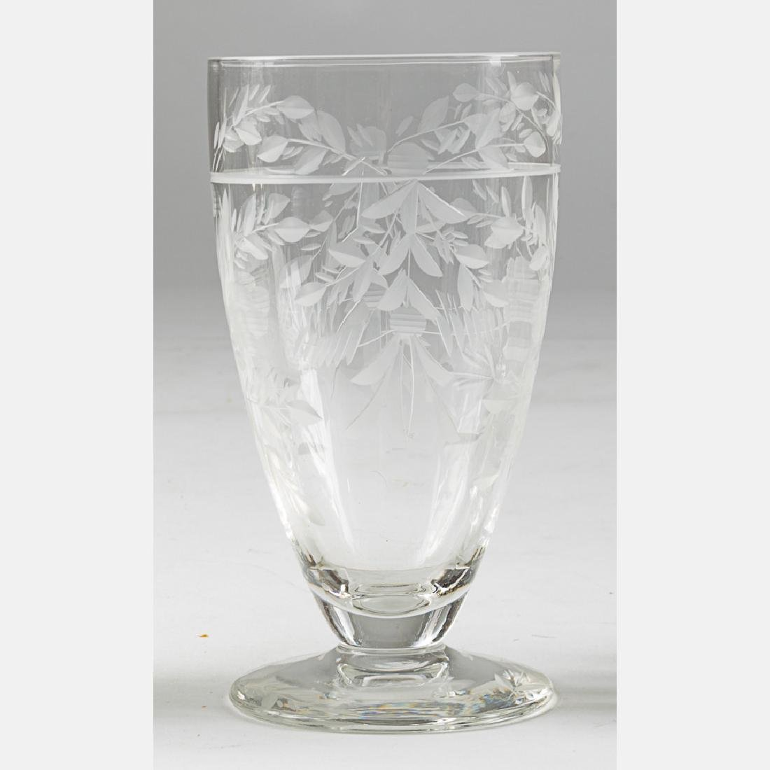 A Collection of Etched Crystal Stemware, 20th Century, - 6