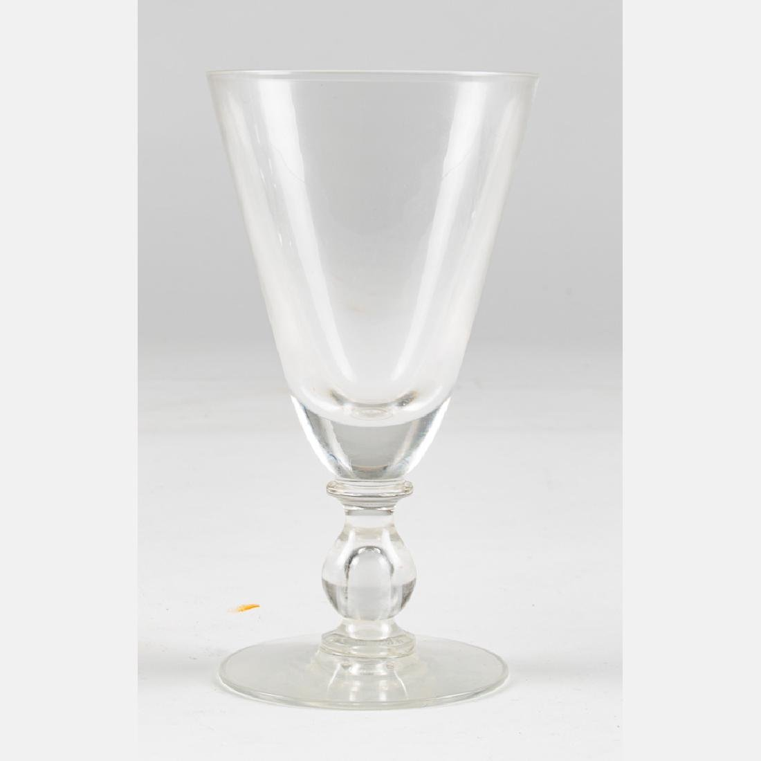 A Set of Crystal Blown Stemware, 20th Century, - 3