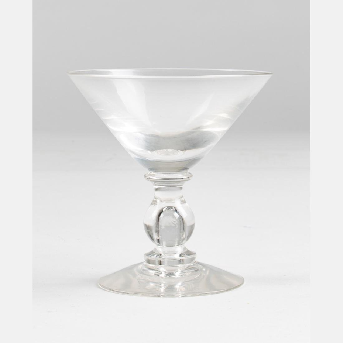 A Set of Crystal Blown Stemware, 20th Century, - 4