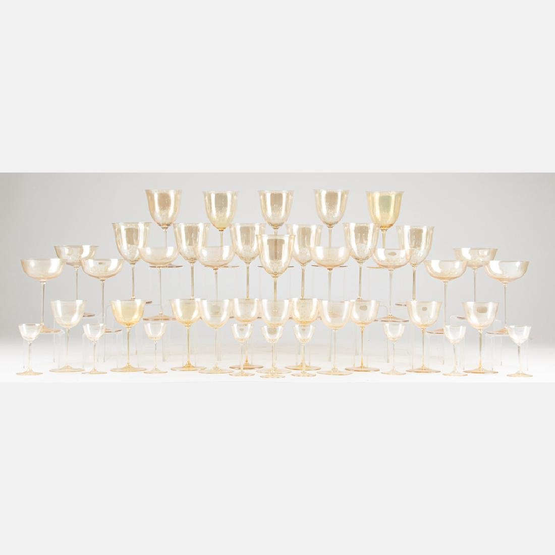 A Set of Blown Glass Stemware by J. & L. Lobmeyr