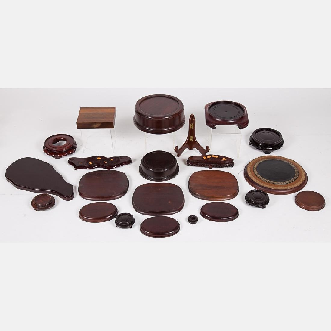 A Miscellaneous Collection of Chinese Carved Hardwood