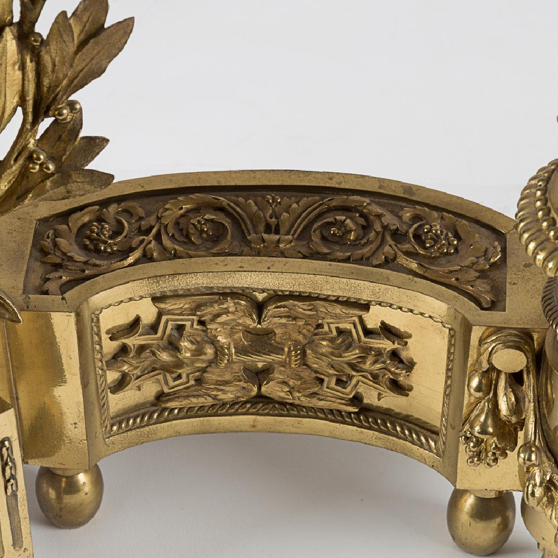 A Pair of Louis XV Style Bronze Dore Chenets, 19th/20th - 2