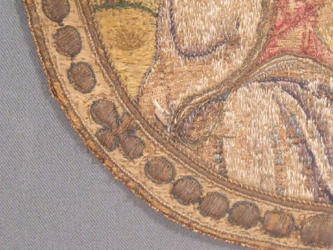 A Silk and Gilt Thread Embroidered Cope Fragment - 2