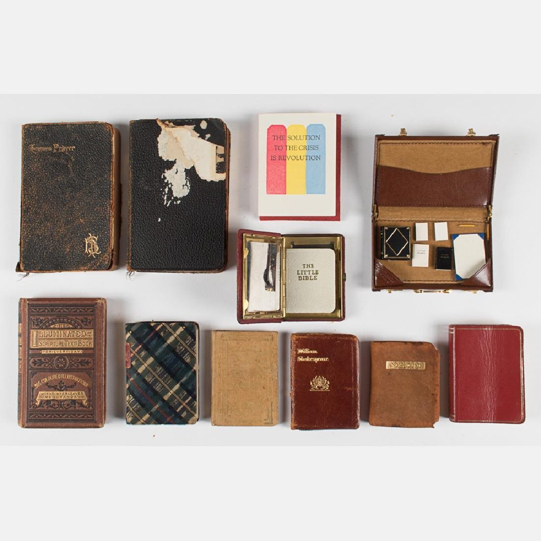 A Collection of Ten Miniature Books, 19th/20th Century,