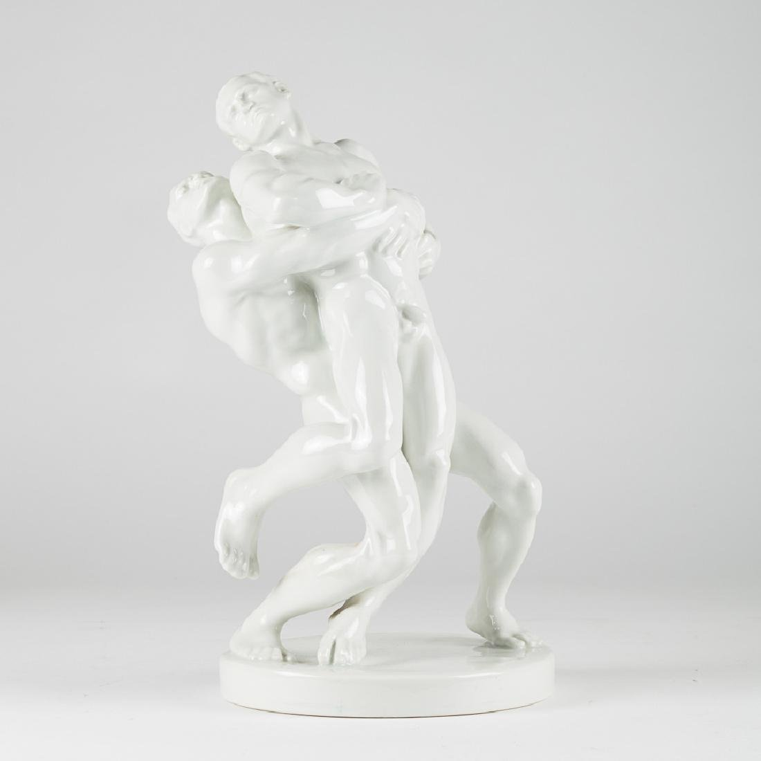 A Bela Pan Kotai Farkas for Herend Olympic Figural - 3