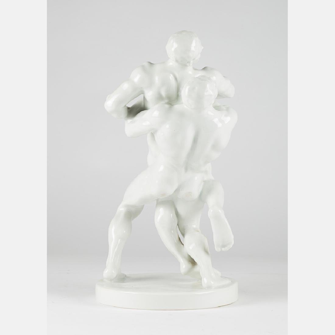 A Bela Pan Kotai Farkas for Herend Olympic Figural - 6