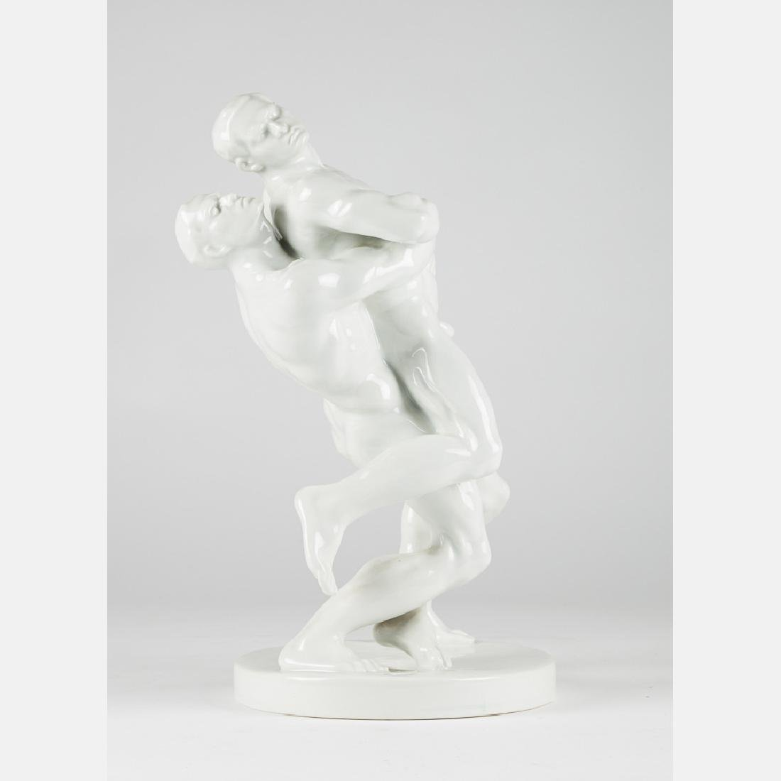 A Bela Pan Kotai Farkas for Herend Olympic Figural - 7