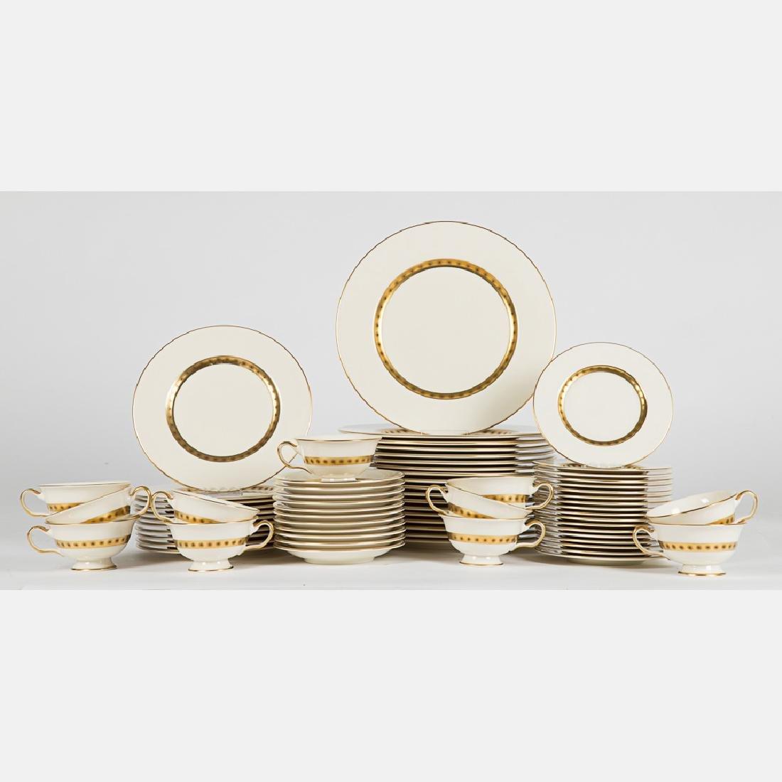 A Partial Castleton Porcelain Dinner Service in the