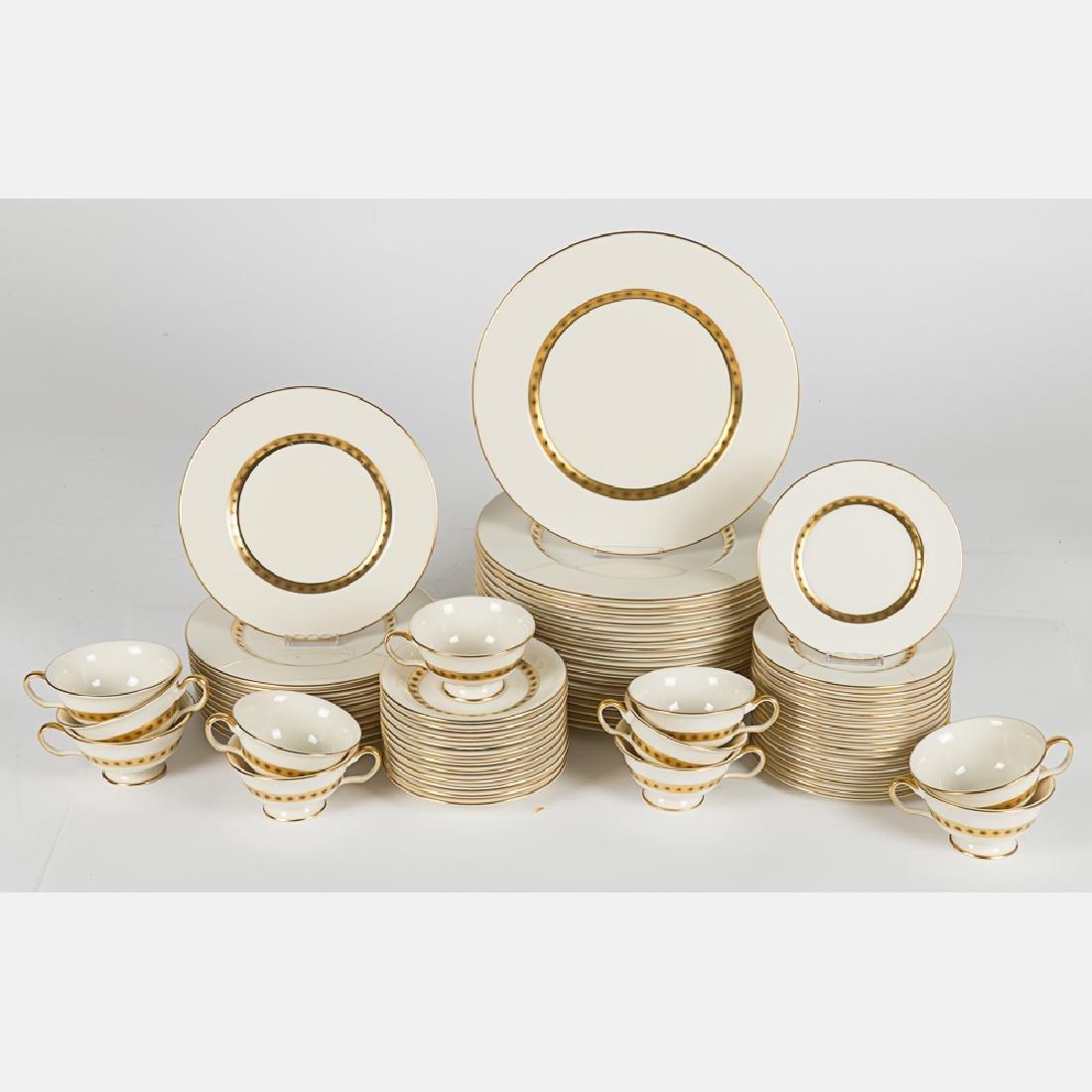 A Partial Castleton Porcelain Dinner Service in the - 2