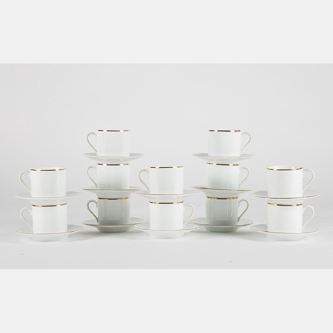 A Tiffany & Company Porcelain Large Demitasse Service,