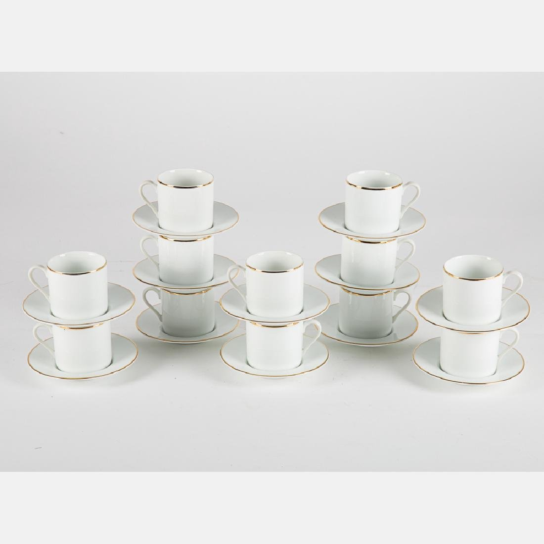 A Tiffany & Company Porcelain Large Demitasse Service, - 2