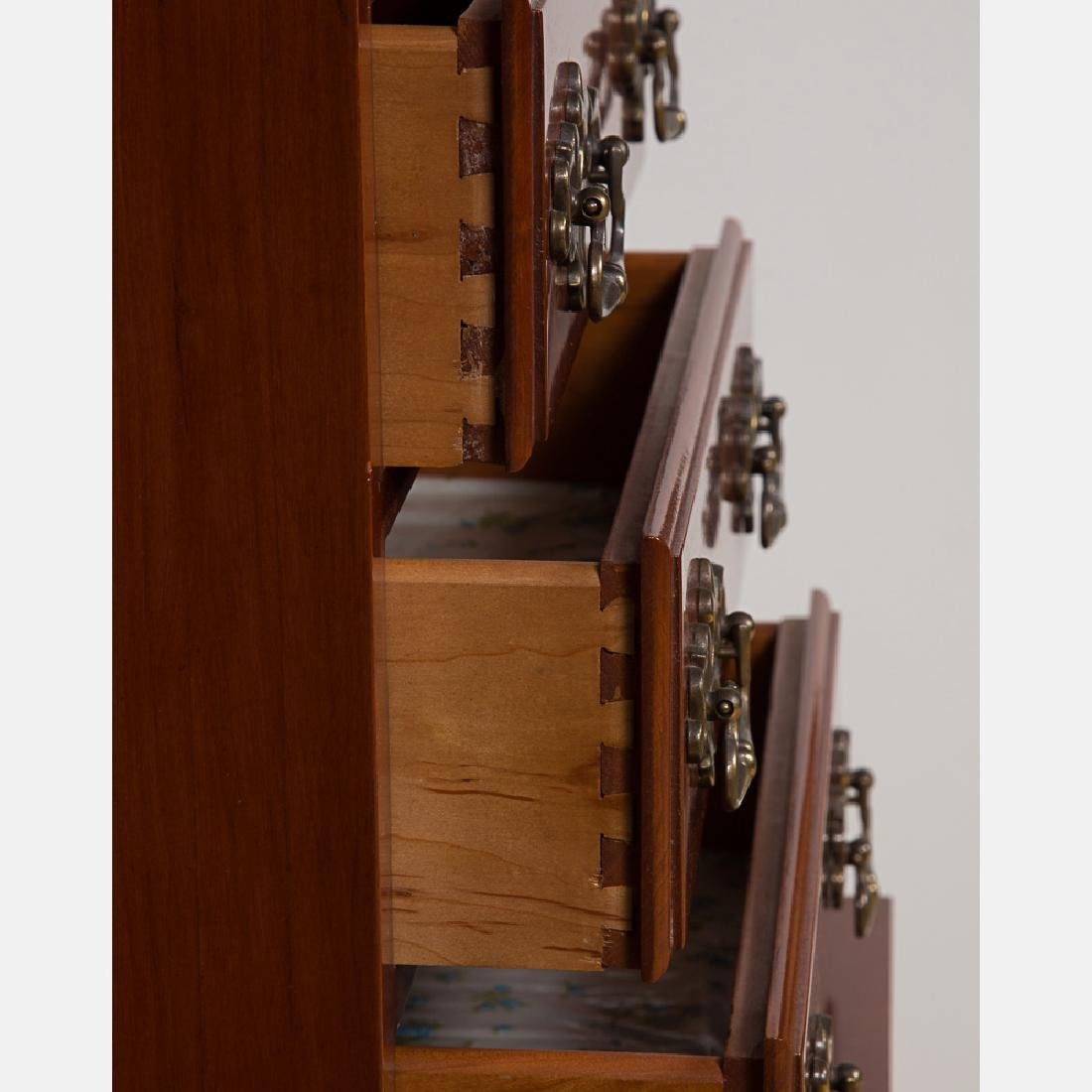 An American Cherry Tall Chest of Drawers, 20th Century. - 3