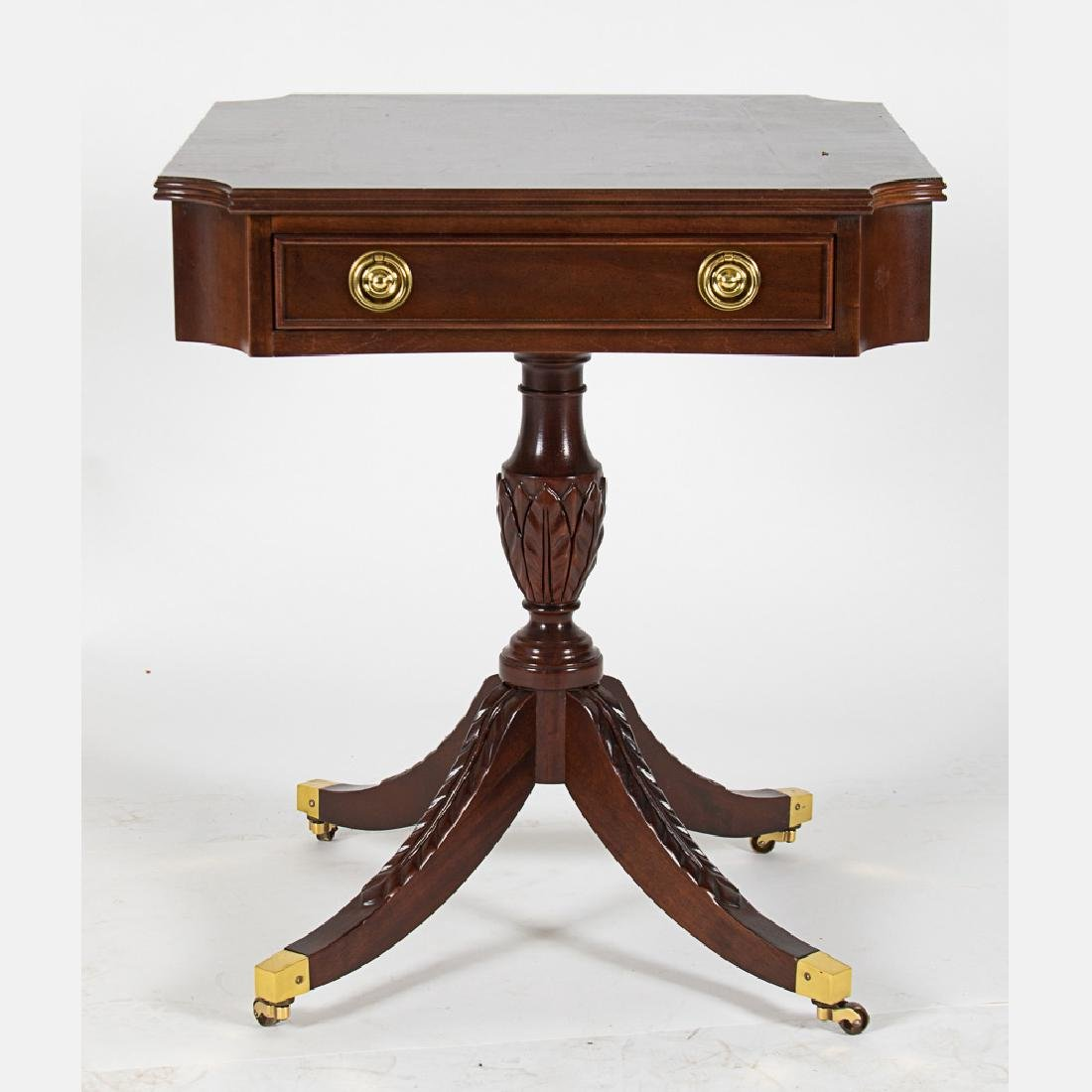 A Regency Style Mahogany Side Table with Single Drawer