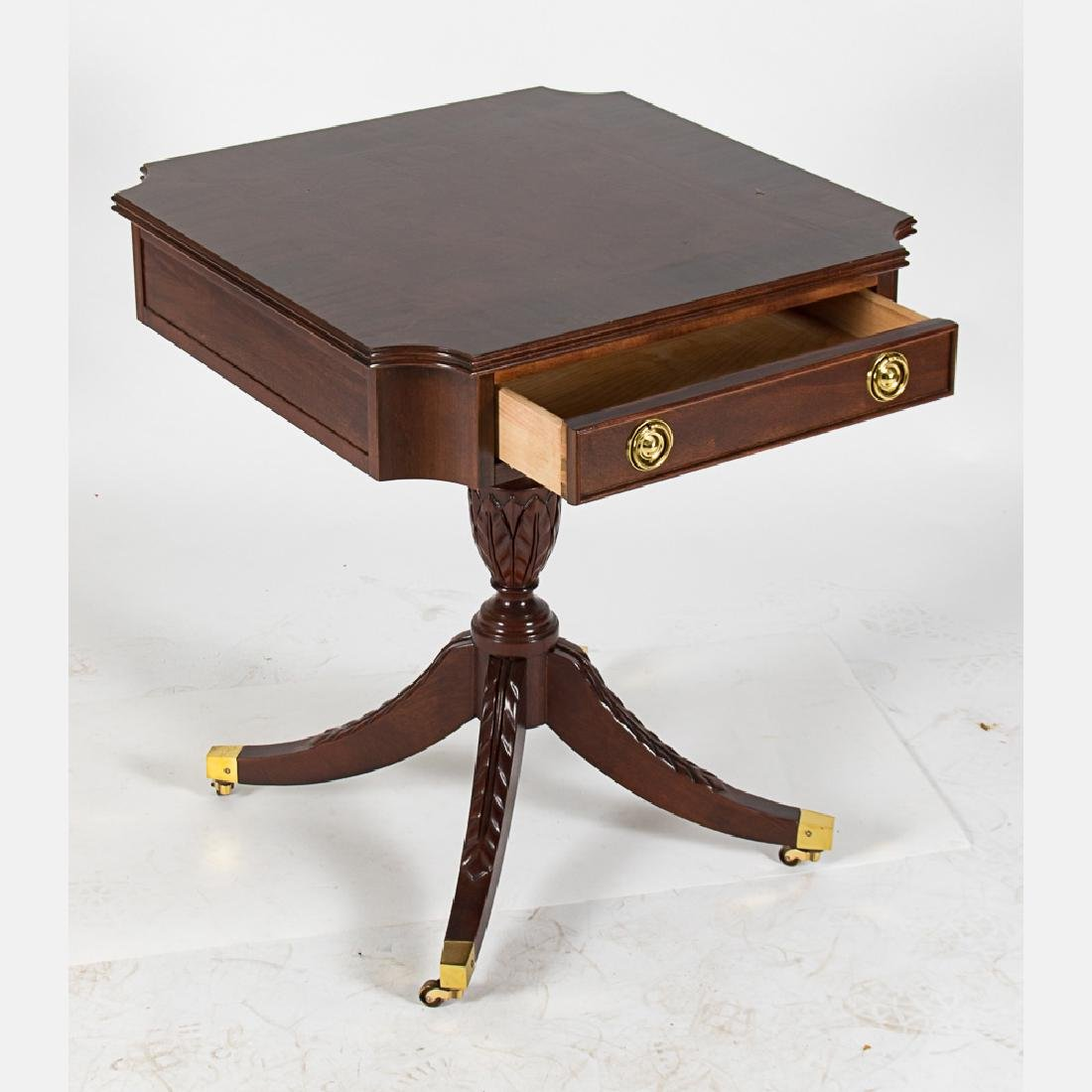 A Regency Style Mahogany Side Table with Single Drawer - 5
