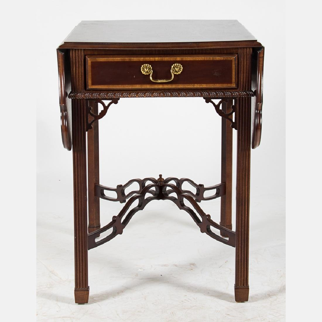 A Chippendale Style Mahogany Pembroke Table with Single