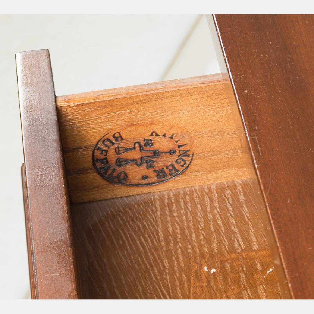 A Pair of Kittinger Mahogany and Ebonized Wood Console - 4
