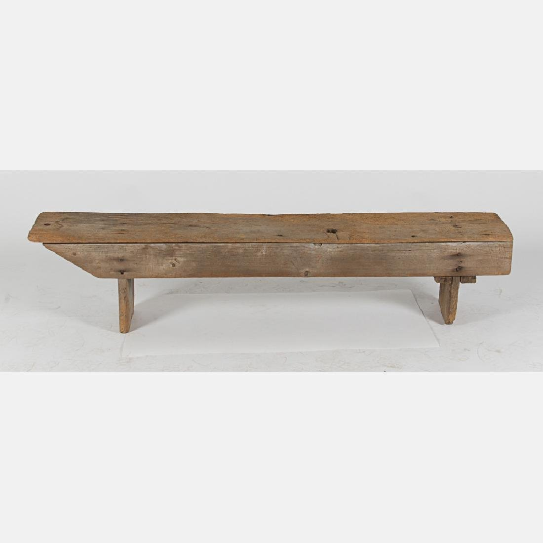 An American Rustic Pine Bench, 19th Century. - 2