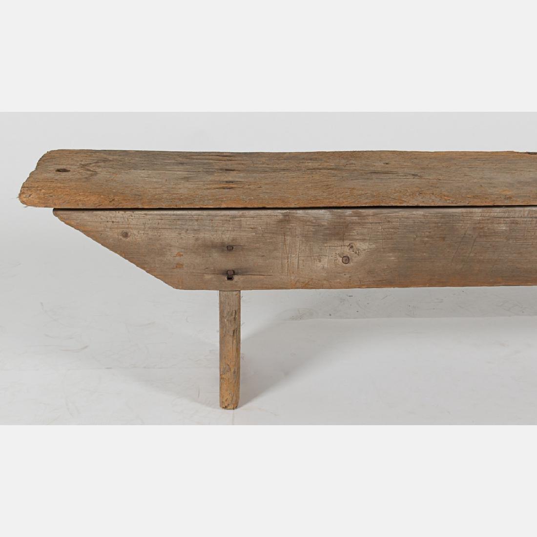 An American Rustic Pine Bench, 19th Century. - 3