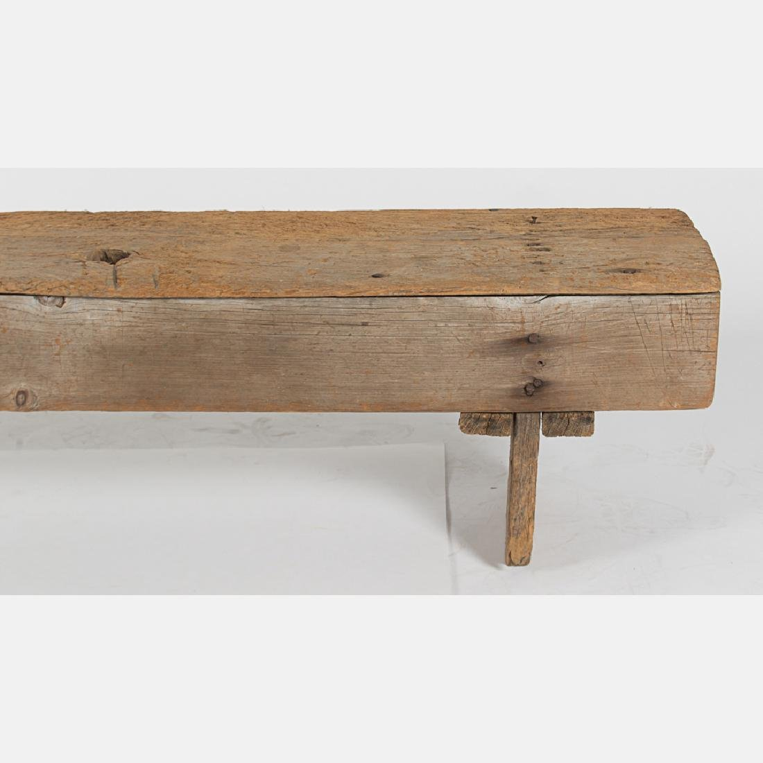 An American Rustic Pine Bench, 19th Century. - 4