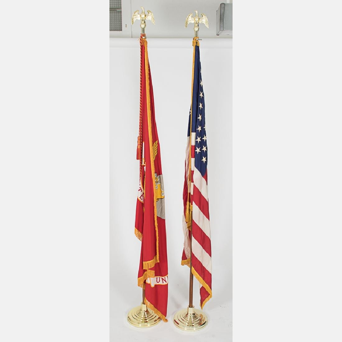 An Embroidered United States Marine Corps Indoor Flag