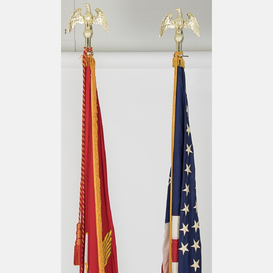 An Embroidered United States Marine Corps Indoor Flag - 2