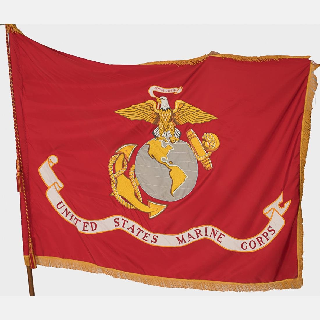 An Embroidered United States Marine Corps Indoor Flag - 4
