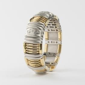 An 18kt. Yellow and White Gold, Diamond Bracelet,
