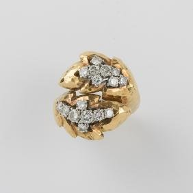 A David Webb Ladies 18kt. Yellow Gold, Platinum and