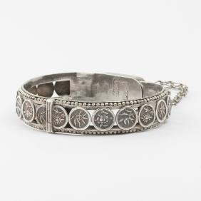 A Chinese Silver Cuff Bracelet.