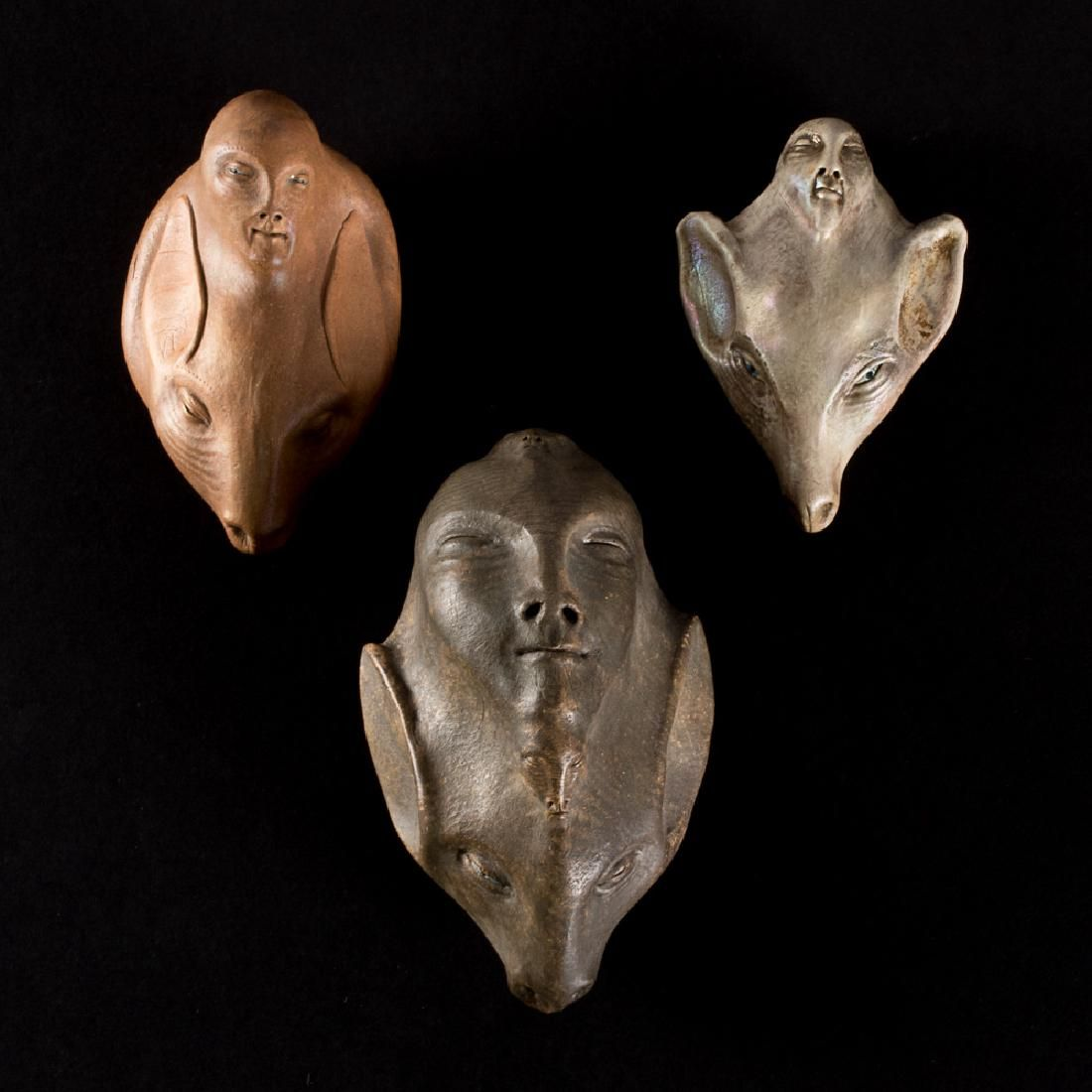 Gary Spinosa (b. 1947) Three Untitled Works, Ceramic