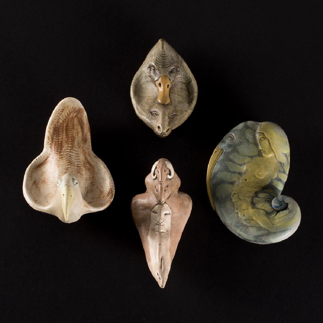 Gary Spinosa (b. 1947) Four Untitled Works, Ceramic