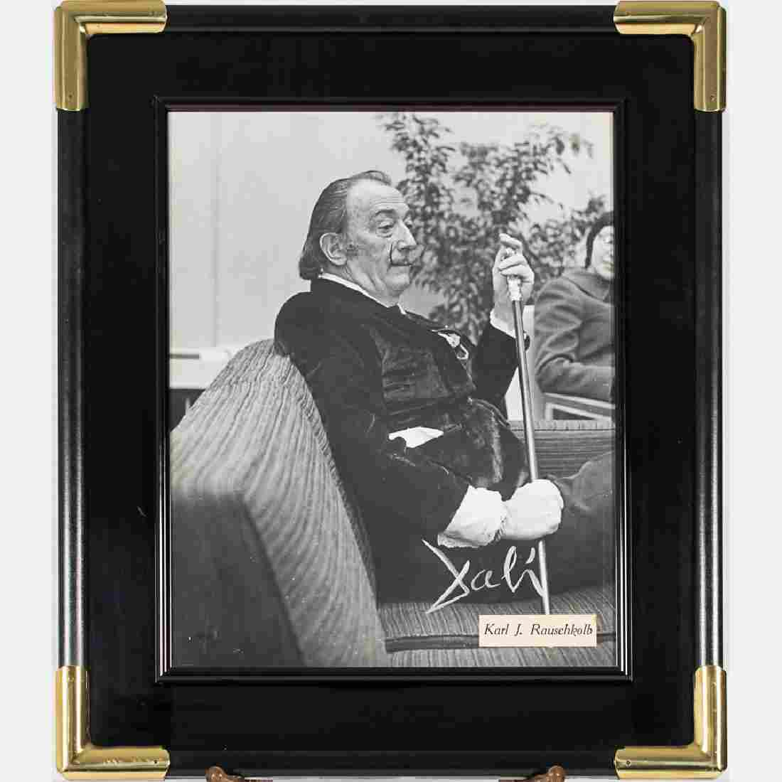 A Signed Photograph of Salvador Dali (1904-1989) by