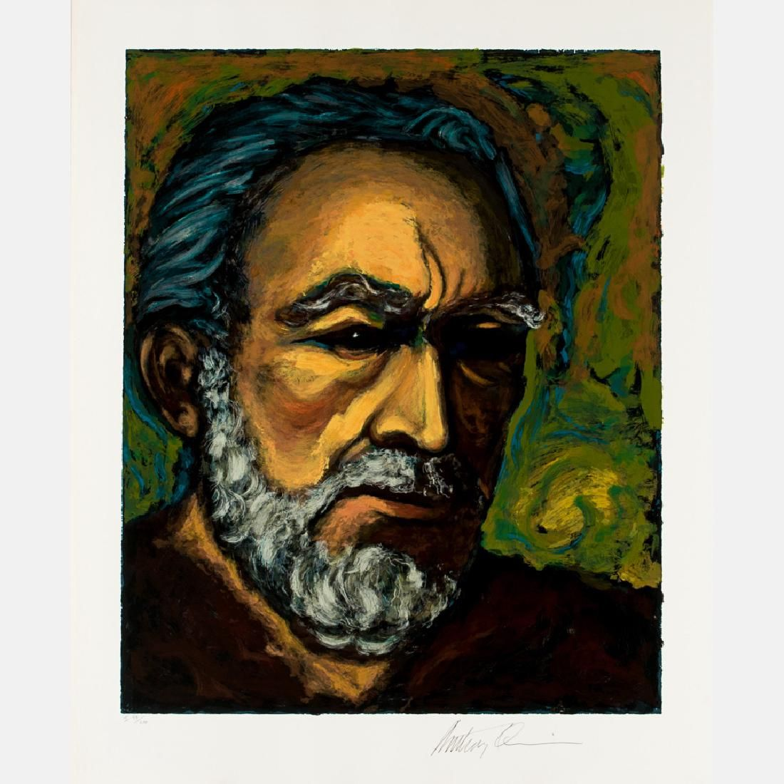 Anthony Quinn (1915-2001) Zorba (A Self Portrait),