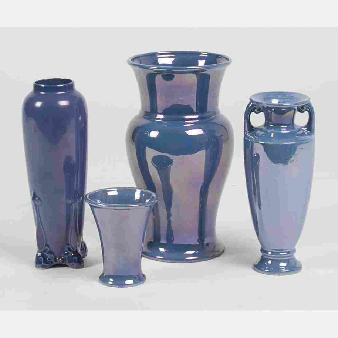 A Group of Four Cowan Pottery Vases, 20th Century,