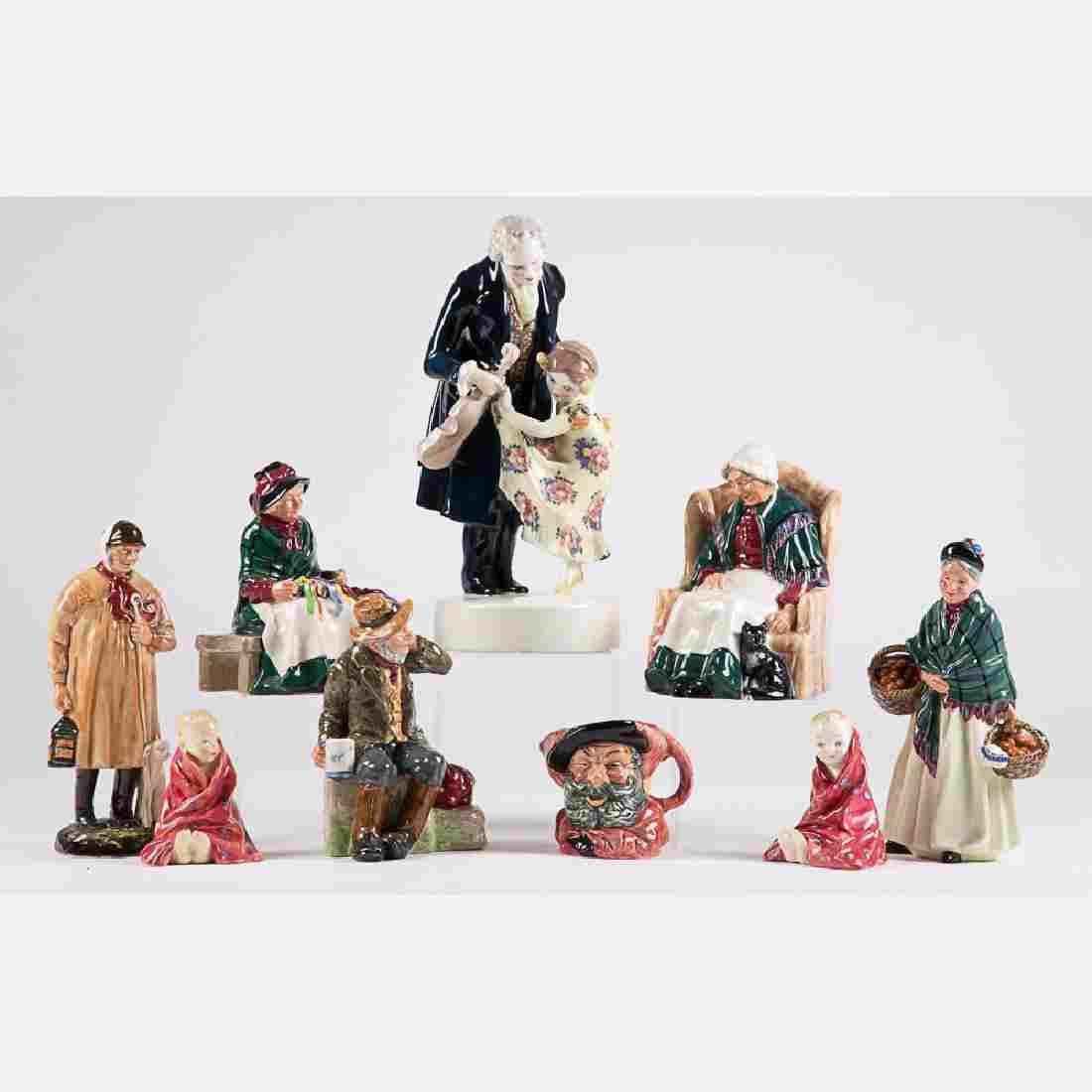 A Miscellaneous Collection of Eight Royal Doulton